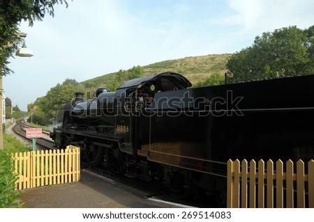 Swanage railway in Dorset - stock photo