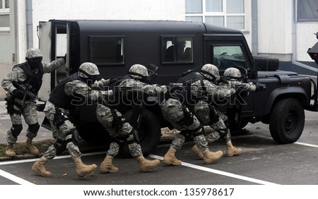 swat team - stock photo