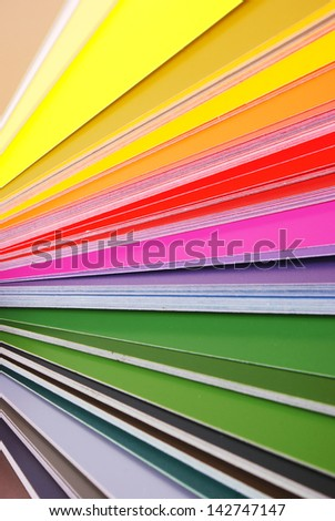 Swatches - colored background - stock photo