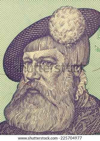 SWEDEN - CIRCA 1981: Gustav I of Sweden (1523-1560) on 5 kroner 1981 banknote from Sweden. King of Sweden during 1523-1560. - stock photo