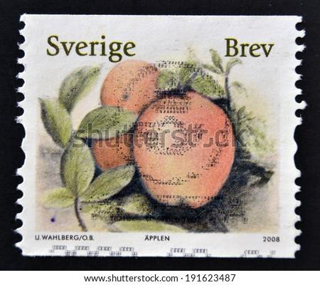 SWEDEN - CIRCA 2008: stamp printed in Sweden shows Apple, circa 2008 - stock photo