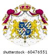 Sweden coat of arms, seal or national emblem, isolated on white background. - stock photo