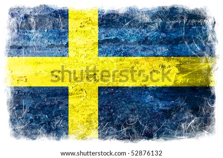 Sweden grunge flag - stock photo