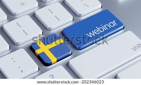 Sweden High Resolution Webinar Concept - stock photo