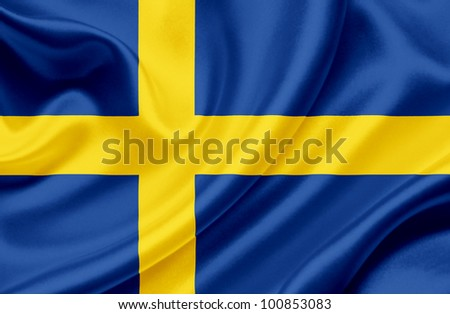 Sweden waving flag - stock photo