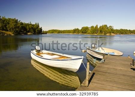 Swedish boats - stock photo