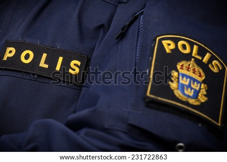 swedish police  - stock photo