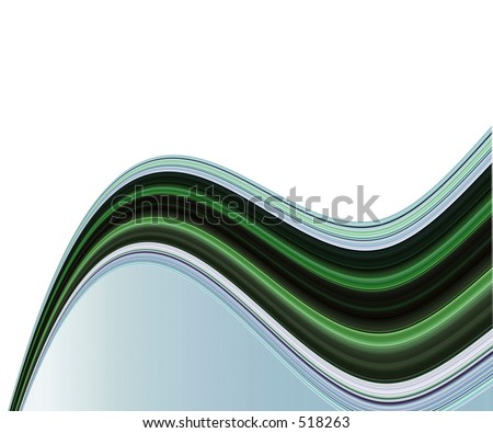 Sweeping line pattern of white - stock photo