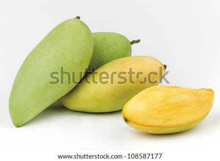 Sweet and great taste of thai mango, the Thailand tropical seasonal fruit the image isolated  - stock photo