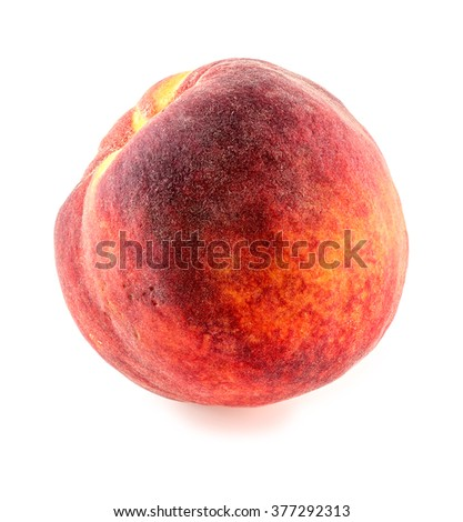Sweet and tasty peach isolated on white - stock photo
