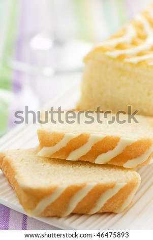 Sweet Cake With Lemon And White Chocolate - stock photo
