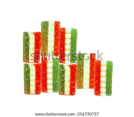sweet candies isolated on white background - stock photo