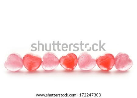 Sweet Candy hearts , valentines background - stock photo
