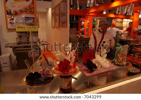 Sweet caramel objects - stock photo