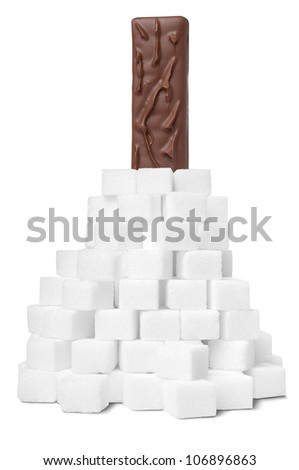 Sweet chocolate bar ingredient - stock photo