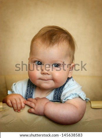 sweet chubby baby - stock photo