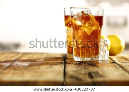 sweet cold ice tea  - stock photo