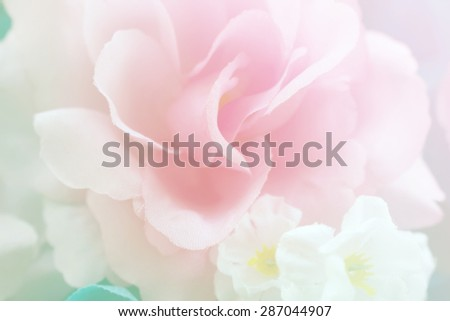 sweet color fabric roses in soft style for background - stock photo