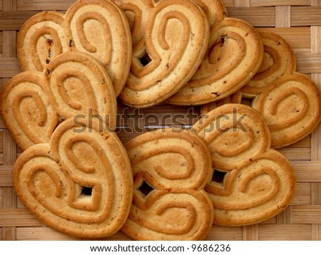 sweet cookie on the basket - stock photo