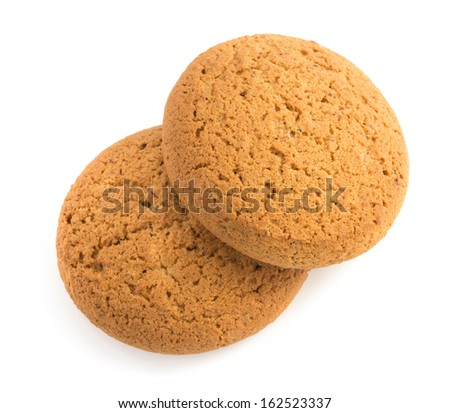 sweet cookies isolated on white background - stock photo