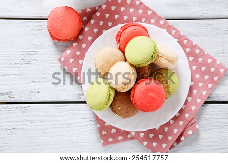 Sweet cookies on a plate, food - stock photo