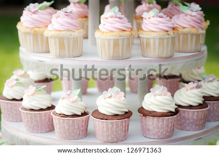 Sweet cupcake - stock photo