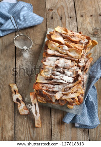 Sweet deep fried pastry - stock photo