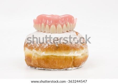 sweet denture - stock photo