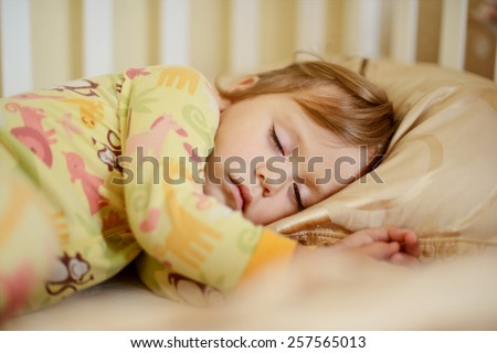 sweet dreams of the toddler sweet girl - stock photo