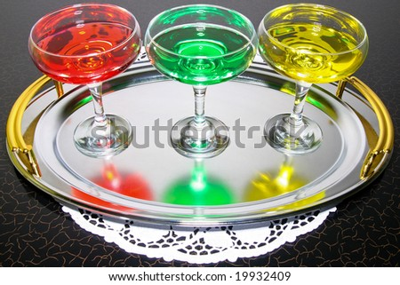 sweet drink whit alcoholic good for arranging version cocktails - stock photo