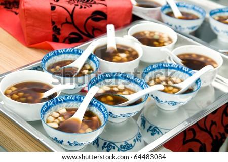 Sweet dumplings at chinese wedding - stock photo