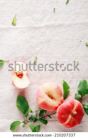 Sweet Fresh Red Apples for Glowing Skin on Table. Good for Wellness Promotion Graphic. - stock photo