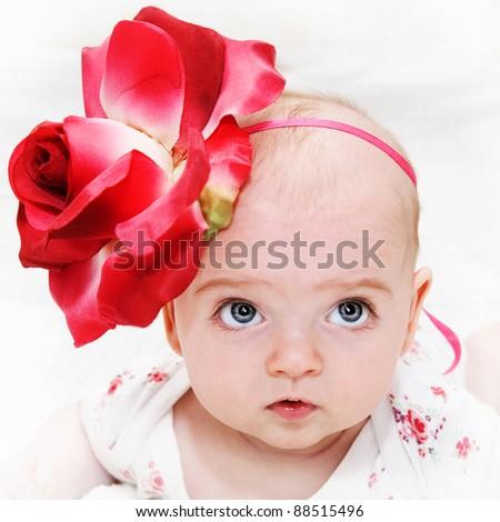 sweet girl - stock photo