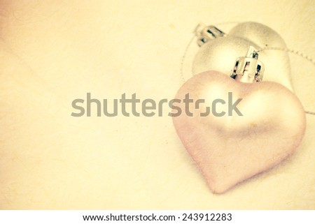 Sweet Heart on mulberry paper texture for Romantic background - stock photo
