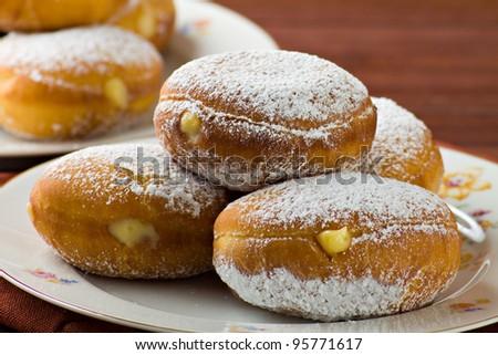 Sweet krapfen - stock photo