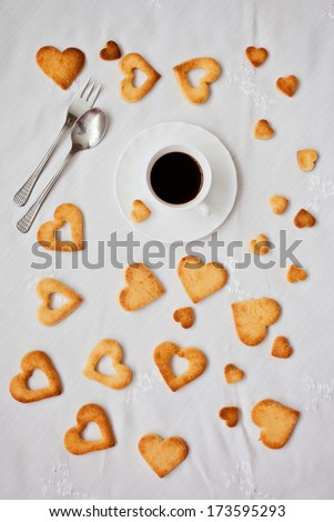 Sweet linzer cookies with in a plate - stock photo
