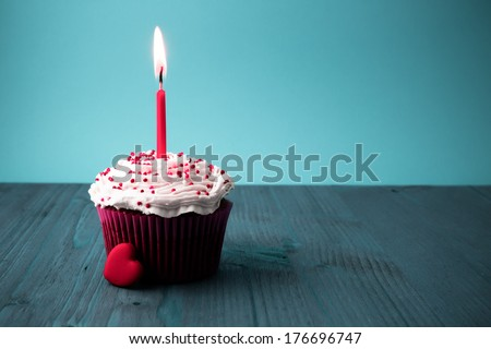 sweet little birthday cake  - stock photo