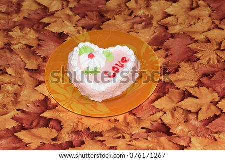 sweet piece of cake for loved ones - stock photo