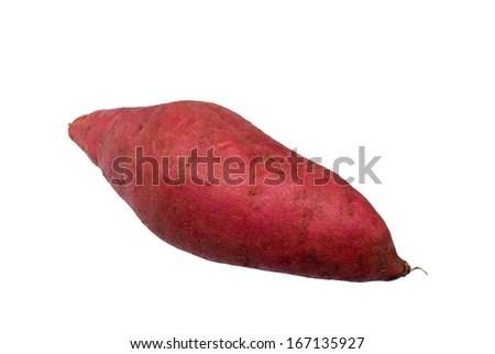 Sweet potatoes On a white background - stock photo