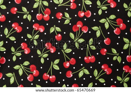 Sweet Red Cherry Seamless - stock photo