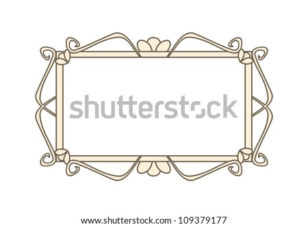 Sweet retro art deco frame. Illustration isolated on white background with empty space to put picture or text - stock photo