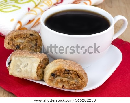 Sweet rugalach cookies - stock photo