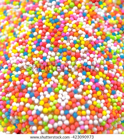 Sweet sugar spreading pastry decoration, Selective focus  - stock photo