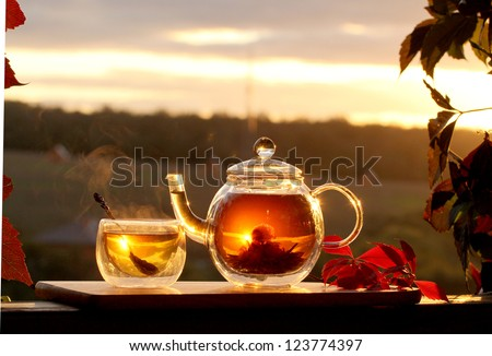 sweet tea - stock photo