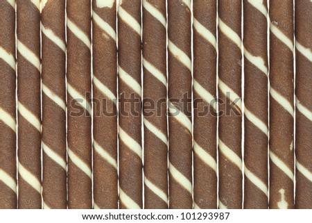 sweet wafer background - stock photo