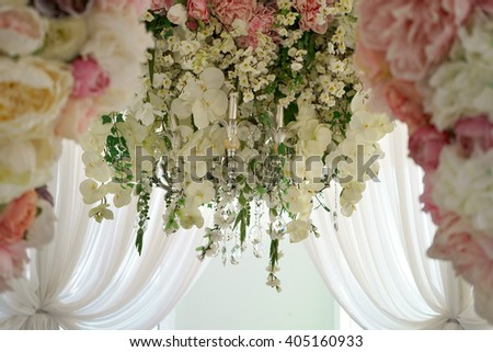 sweets table decoration for a party or wedding - stock photo