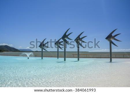 Swimming lagoon in Cairns, Queensland, Australia - stock photo