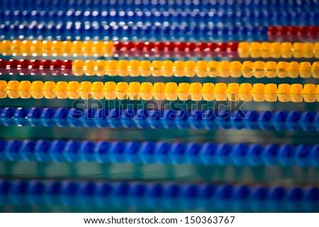 Swimming lines - stock photo