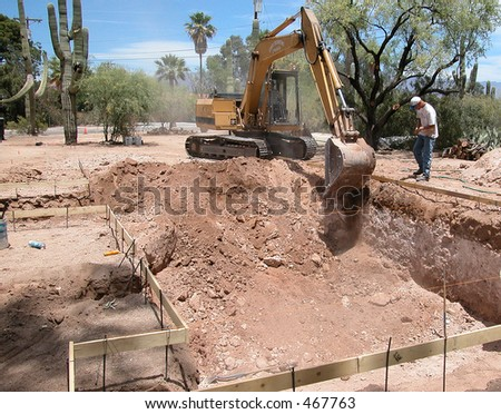 Swimming Pool Excavation - stock photo