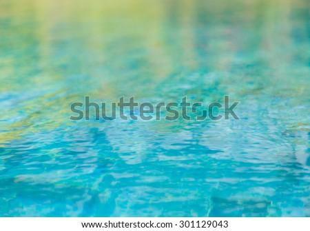 Swimming pool rippled water - stock photo